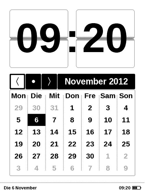 Datum und Uhrzeit ganz groß
