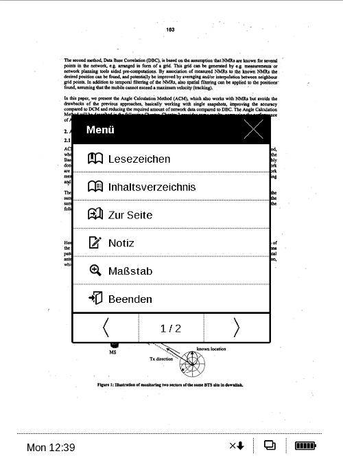 Das Kontextmenü (hier für PDF-Dokumente) ist auf zwei Reiter verteilt