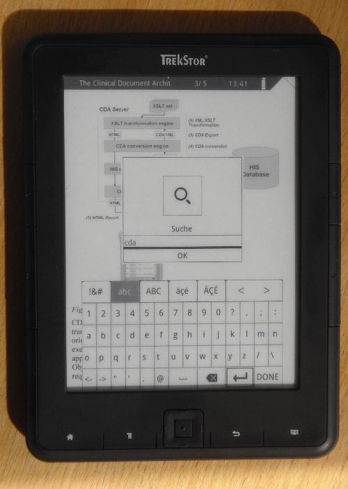 Die Textsuche funktionierte bei mir in allen getesteten Formaten.