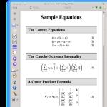 Calibre 0.9 kommt gut mit mathematischen Formeln klar