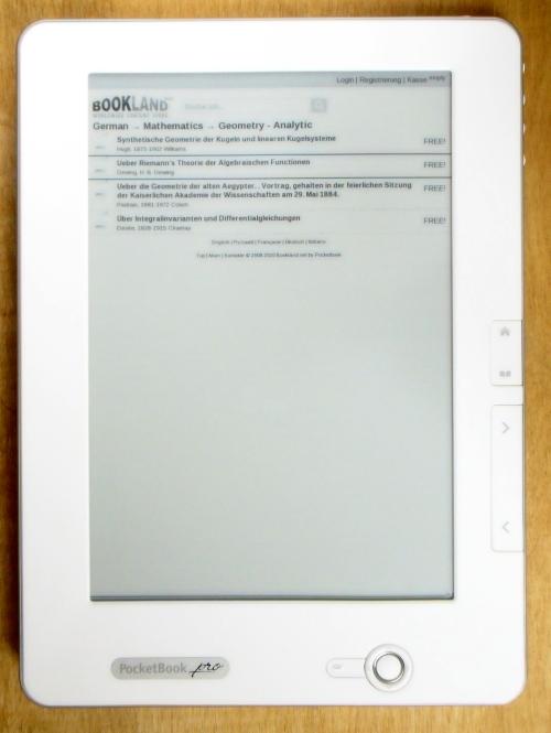In PocketBooks Bookland findet sich Lesefutter in vielen Sprachen