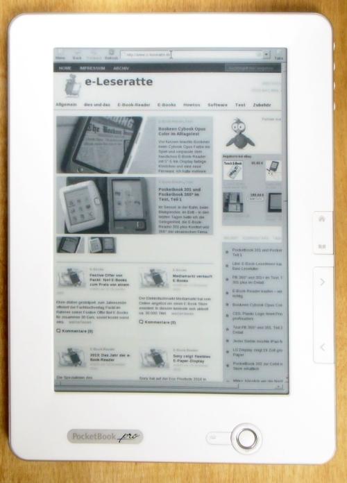 Browsen mit dem PocketBook pro 902: möglich, aber nicht sehr komfortabel