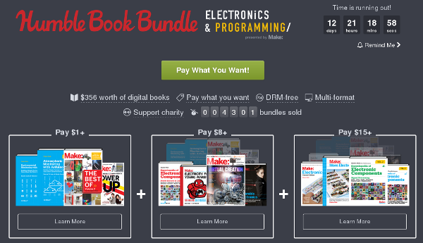 Humble Book Bundle Electronics & Programming presented by Make